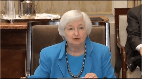 "Janet Yellen may be saying ""Read my Lips, people"" during Friday's speech. Source: Federal Reserve System"
